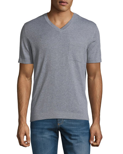 Men's Cotton V-Neck T-Shirt