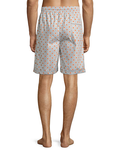 Men's Woven Lounge Shorts with Logo