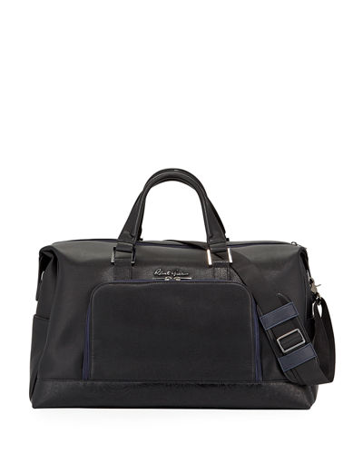 Men's Piro Faux-Leather Weekender Bag
