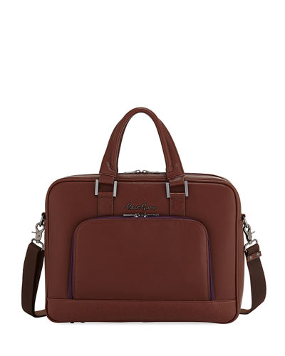 Paterio Faux-Leather Briefcase