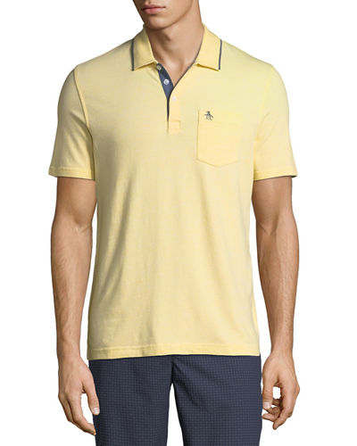 Men's Birdseye Three-Button Polo Shirt