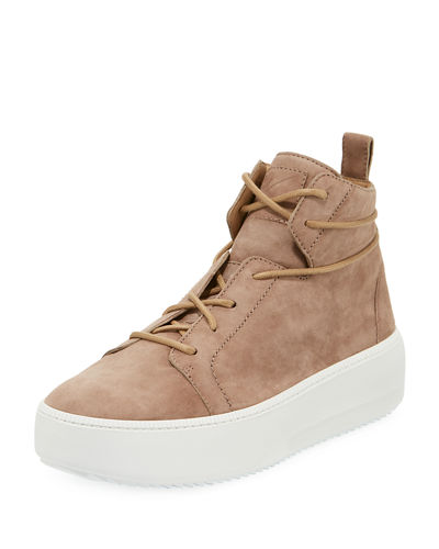 Men's Suede Platform High-Top Sneakers