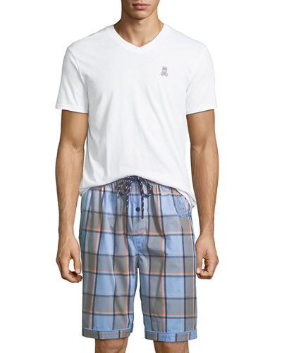Men's V-Neck & Shorts Lounge Set