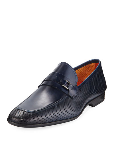 Magnanni for Neiman Marcus Men's Butero Perforated Slip-On