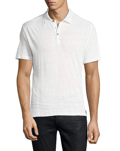 Men's Collingwood Linen Polo Shirt