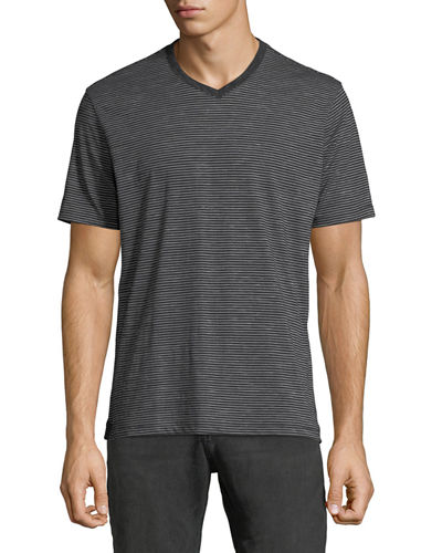 Men's Granby V-Neck Striped T-Shirt
