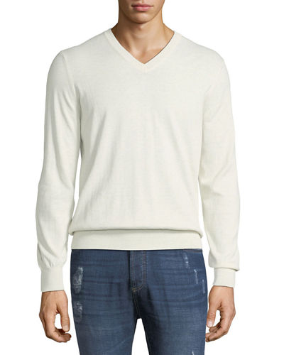 Men's V-Neck Lightweight Sweater