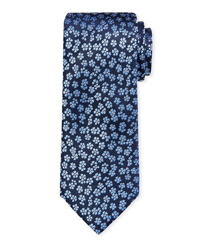 Iridescent Flower Brocade Tie