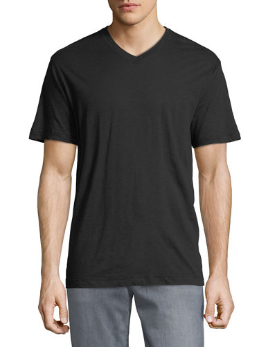 Men's Albie V-Neck Short-Sleeve Cotton Knit T-Shirt