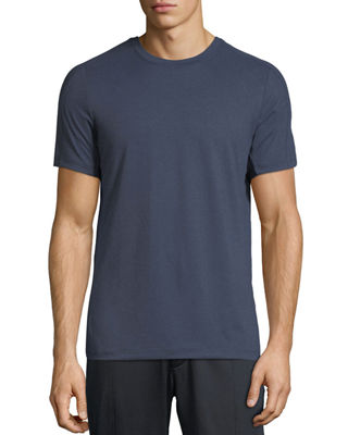 PE360 Men'S Crewneck Short-Sleeve Active Jersey T-Shirt in Indigo