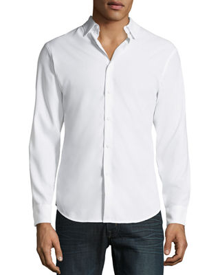 PE360 Men'S Slim-Fit Active Solid Sport Shirt in White