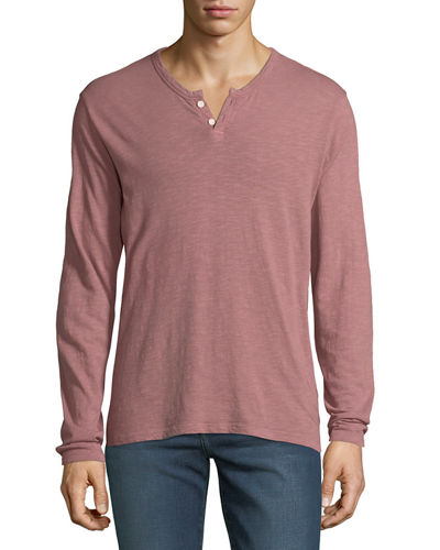 Men's Slub Henley T-Shirt