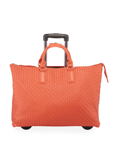 KC Jagger Laney Woven Faux-Leather Rolling Bag