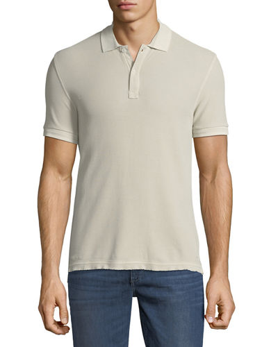 Men's Bleached Out Pique Classic Polo Shirt