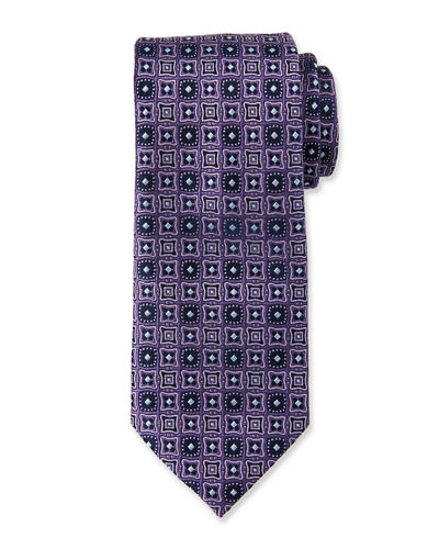 Men's Medallion Silk Tie