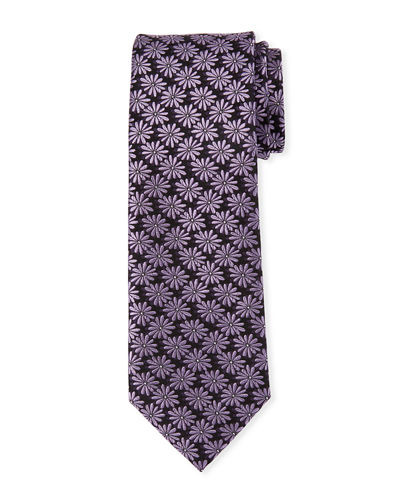 Flower Pattern Silk Tie