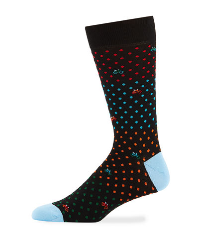Men's Dot & Bicycle Socks