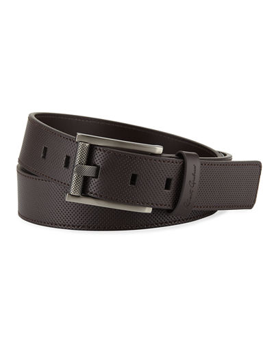 Robert Graham Men's Cafacito Leather Belt