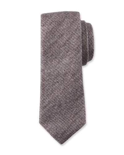 Men's Wool-Silk Boucle Tie