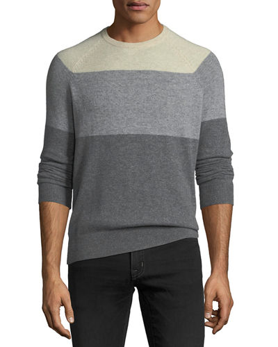 Men's Cashmere Colorblock Crewneck Sweater