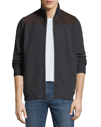 Men's Milano Suede Shoulder Cardigan