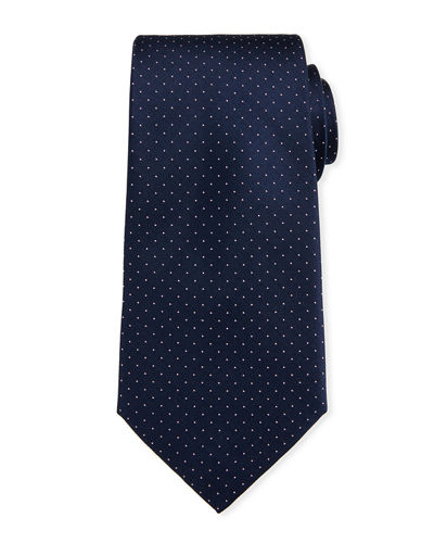 Pin-Dot Silk Tie