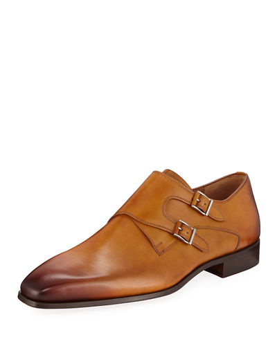 Hand-Antiqued Calf Two-Tone Dress Shoes