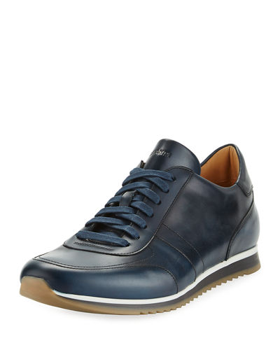 Magnanni for Neiman Marcus Men's Hand-Antiqued Calf Sneakers