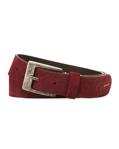 Men's Warner Suede Strap Belt