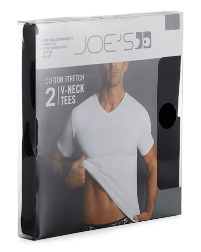 2-Pack Tagless V-Neck Tees