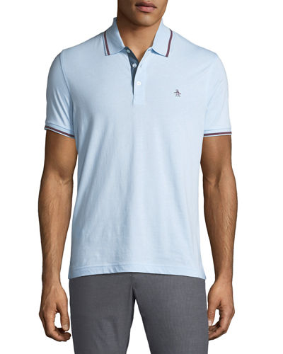 Original Penguin Men's Contrast-Trim Short-Sleeve Polo Shirt