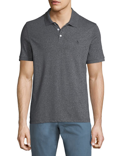 Original Penguin Men's Jaspe Knit Short-Sleeve Polo Shirt