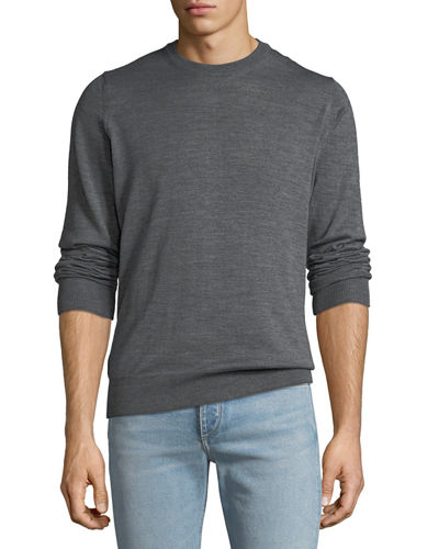 Men's Long-Sleeve Wool-Blend Pullover Sweater