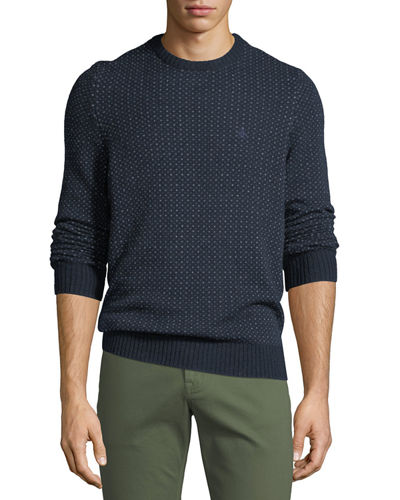 Men's Wool-Blend Speckle Sweater