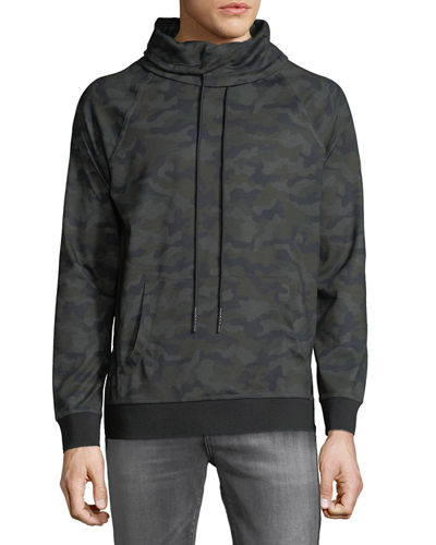 Men's Camo Pullover Turtleneck Jacket
