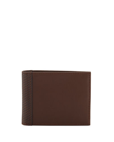 Men's Tonal Bi-Fold Leather Wallet