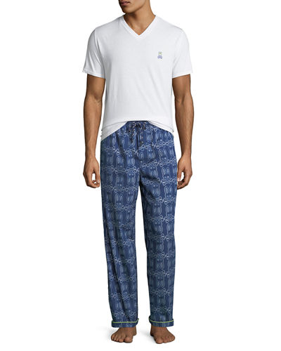 Men's Logo Print Pajama Set