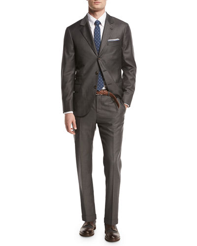 Brunello Cucinelli Solid 3-Button Two-Piece Suit