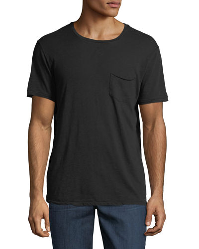 Men's Chase Raw-Edge Crewneck T-Shirt