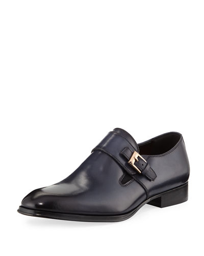 Men's Bruno Brushed Monk-Strap Dress Shoes