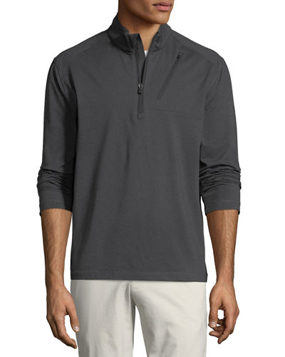Callaway Men's Brushed Waterproof Long-Sleeve Pullover Jacket