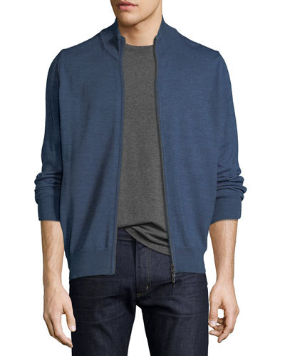 Men's Full Zip Long-Sleeve Cardigan