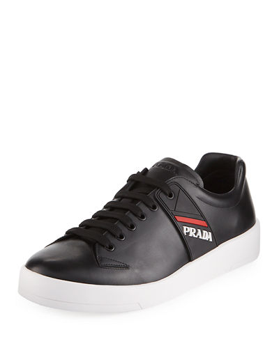 9f89bb3659c86d ... reduced prada mens vitello plume leather low top sneakers 6d2de 9d2ee  italy prada leather fringed derby shoes prada shoes black ...