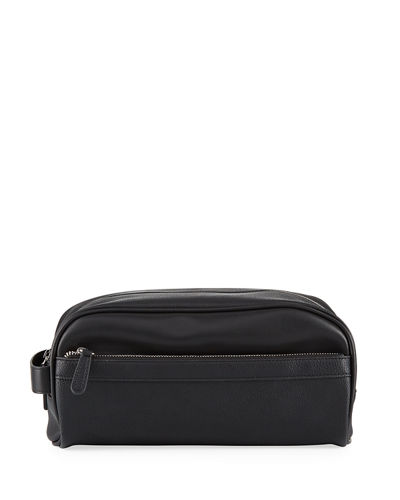 Men's Faux-Leather Travel Toiletry Case