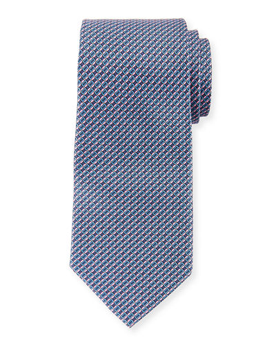 Men's Neat Patterned Silk Tie