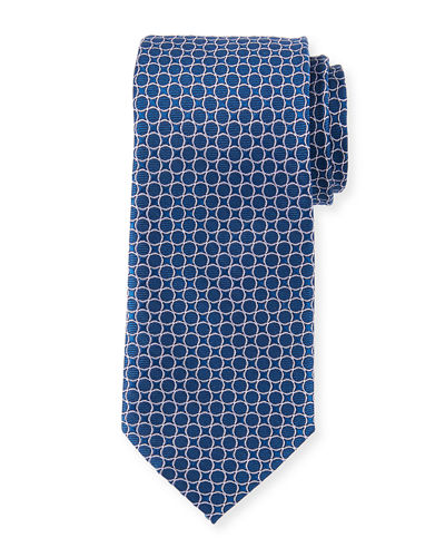 Men's Circle Pattern Silk Tie