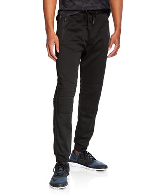 TAHARI SPORT Men'S Moto Lounge Pants in Black