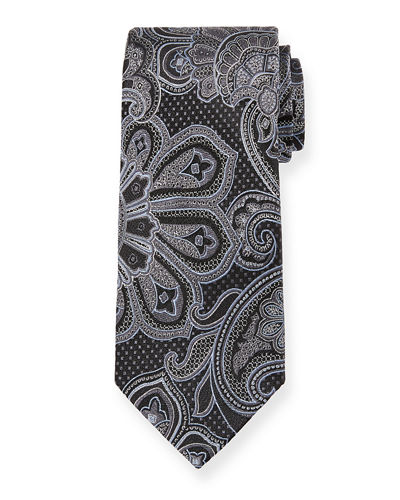 Men's Paisley Pattern Silk Tie