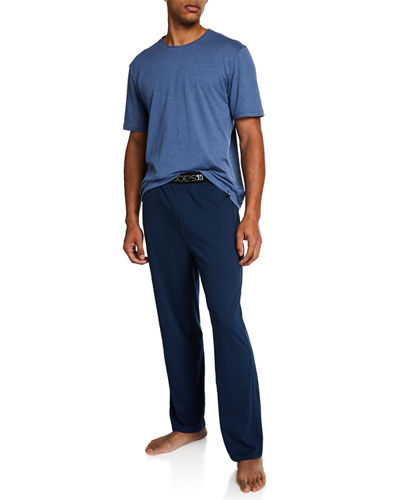 Men's Lounge Crew Tee and Logo Pant Set