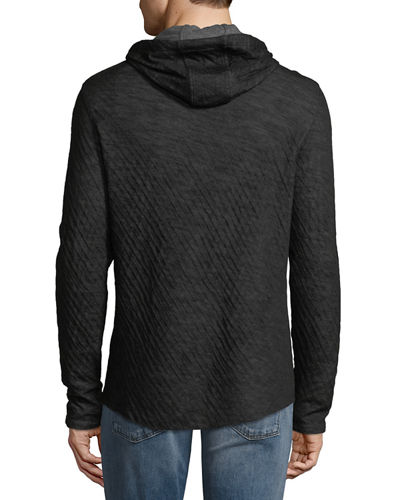 Men's Contrast Double Knit Hoodie